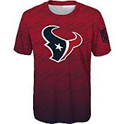 NFL Team Apparel Youth Houston Texans Sublimated Red Performance T-Shirt