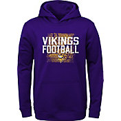 NFL Team Apparel Youth Minnesota Vikings Attitude Pullover Hoodie