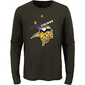NFL Team Apparel Youth Minnesota Vikings Flux Ultra T-Shirt