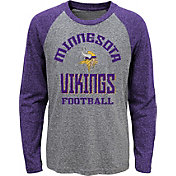 NFL Team Apparel Youth Minnesota Vikings Gridiron Grey Long Sleeve Shirt