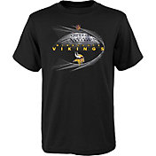 NFL Team Apparel Youth Minnesota Vikings Performance Black T-Shirt