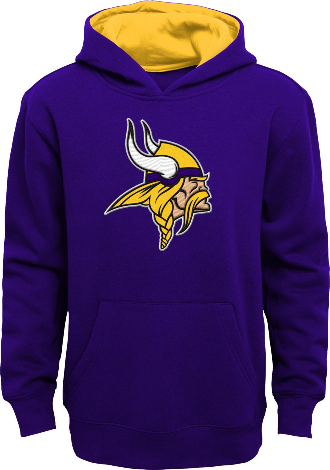 arrives 3a31d d3821 NFL Team Apparel Youth Minnesota Vikings Prime Purple Pullover Hoodie