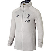 New Balance Men's Liverpool FC Travel Heather Grey Full-Zip Jacket