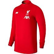 New Balance Men's Liverpool On-Pitch Red Quarter-Zip Pullover