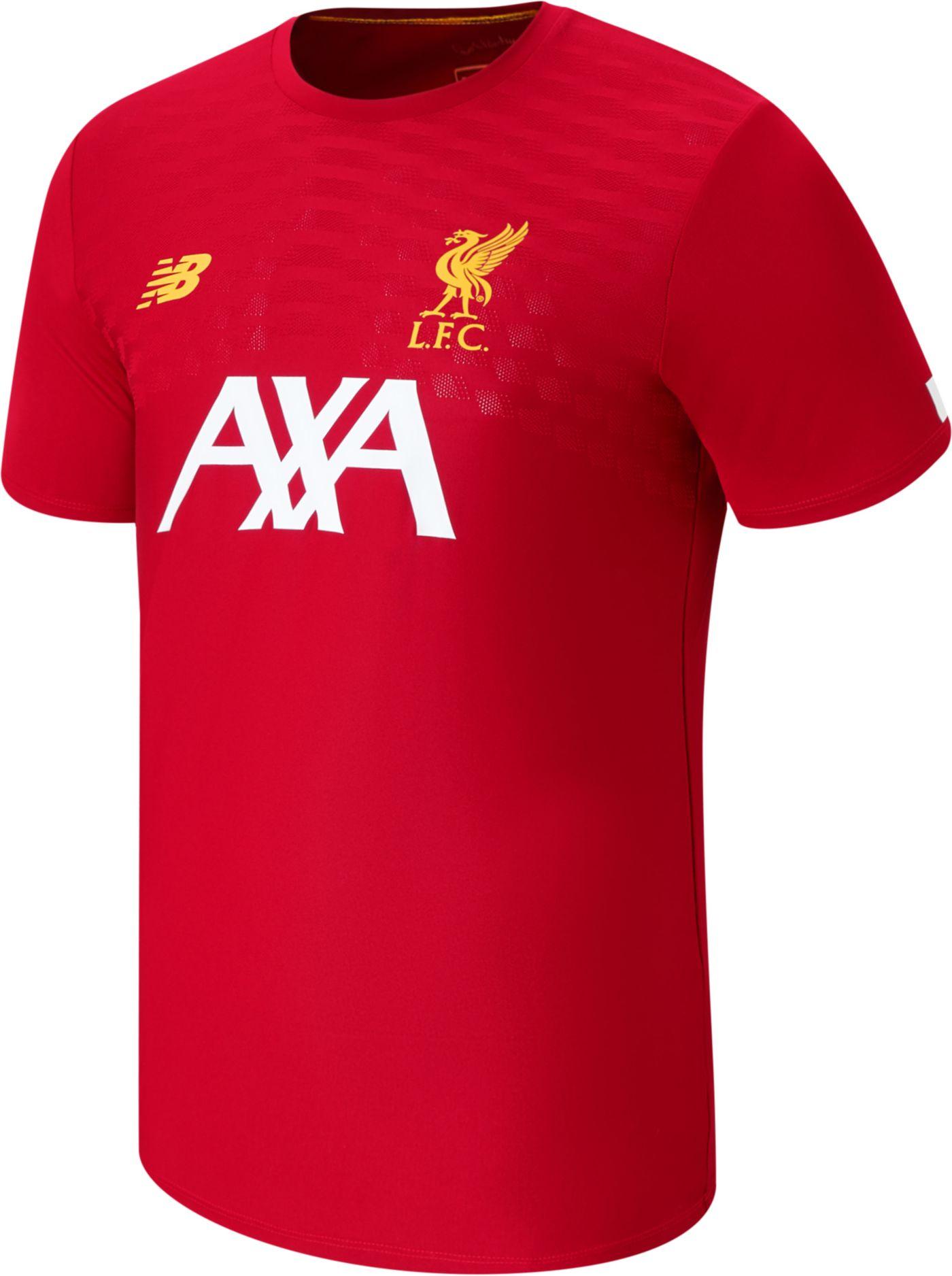 New Balance Men's Liverpool Prematch Red Shirt