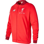 New Balance Men's Liverpool Training Red Perfomance Full-Zip Hoodie