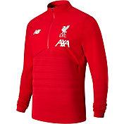 New Balance Men's Liverpool Vector Speed Red Quarter-Zip Pullover