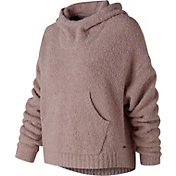 New Balance Women's Boucle Cozy Crop Hoodie