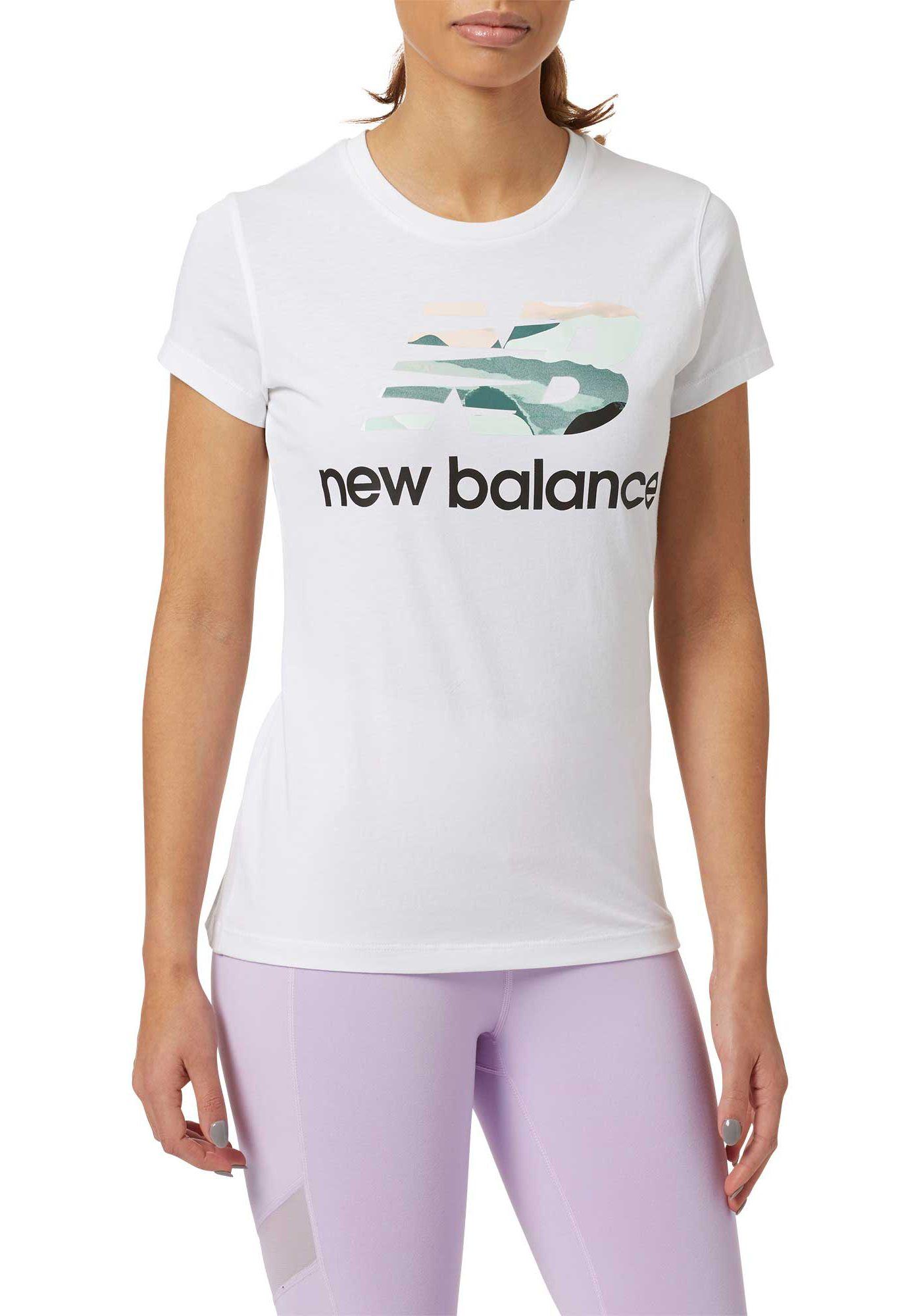 New Balance Women's Essentials Aqua Camo T-Shirt