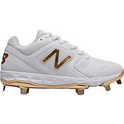 New Balance Women's Fresh Foam Velo 1 Gold Metal Fastpitch Softball Cleats