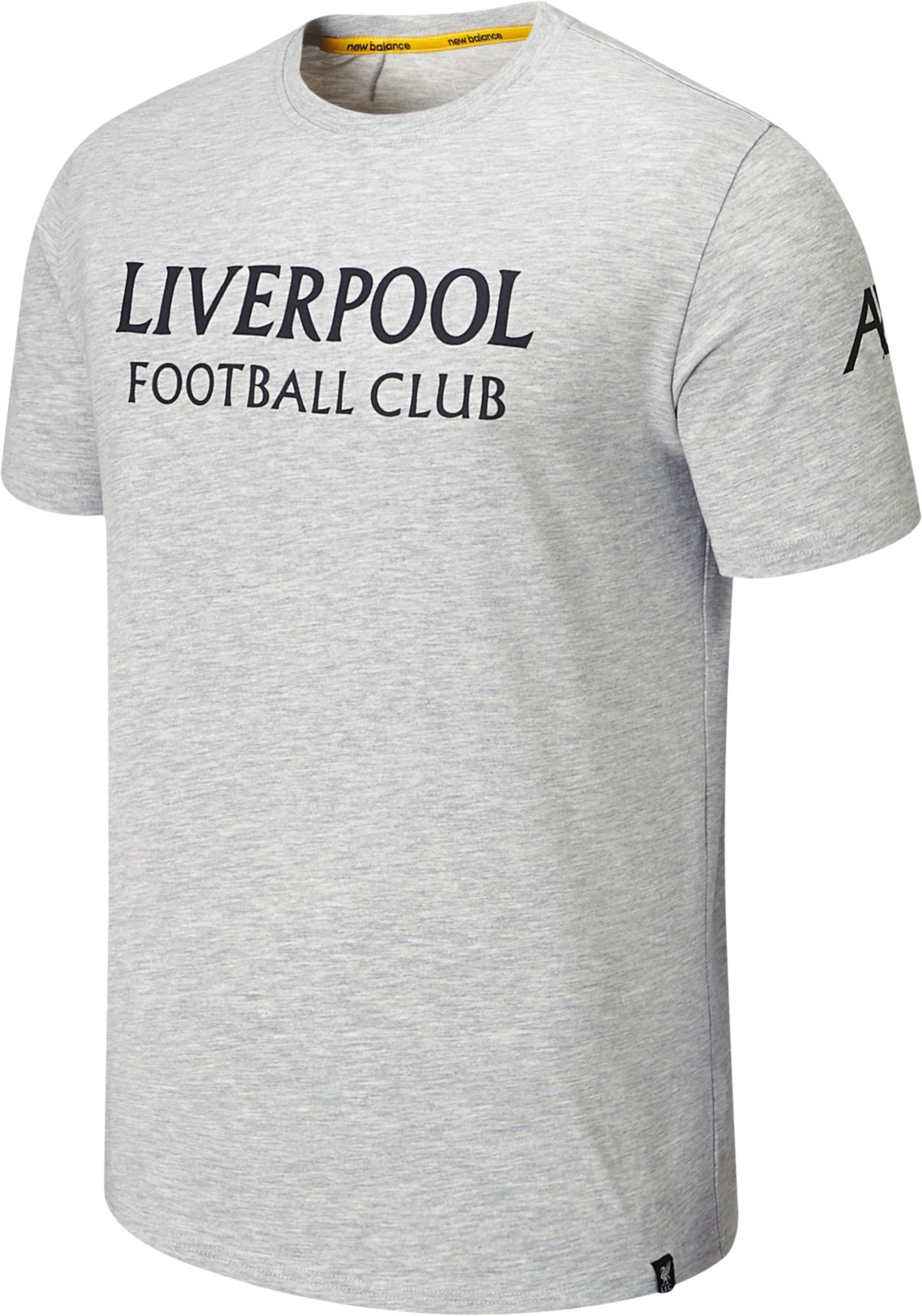 New Balance Youth Liverpool FC Travel Graphic Heather Grey T-Shirt