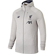 New Balance Youth Liverpool FC Travel Heather Grey Full-Zip Jacket