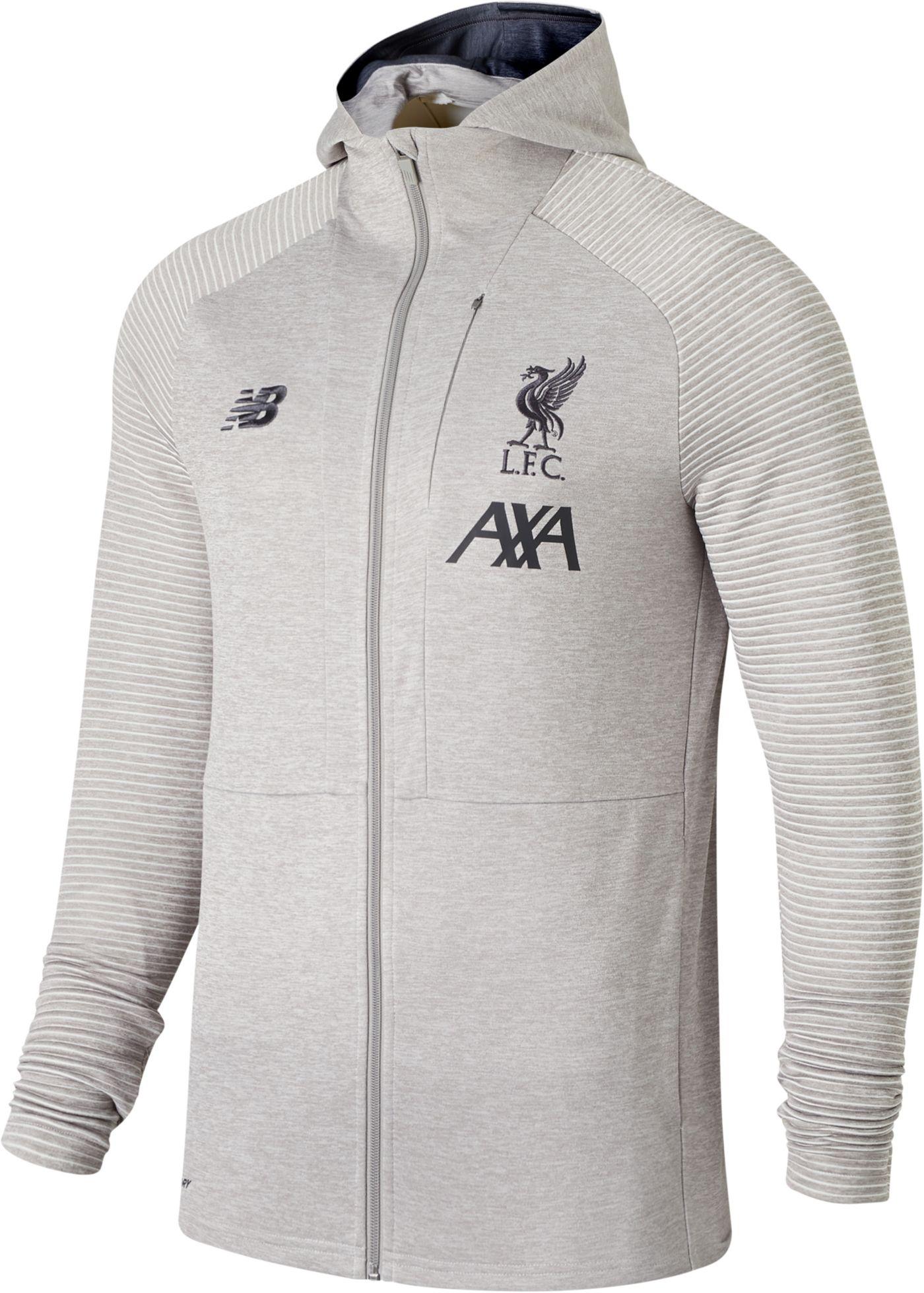 New Balance Youth Liverpool FC Travel Heather Grey Full-Zip Jacket