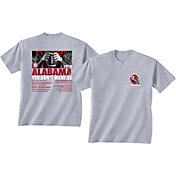 New World Graphics Men's Alabama Crimson Tide Grey 2018 Football Schedule T-Shirt