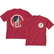 New World Graphics Men's Alabama Crimson Tide Crimson Flag T-Shirt