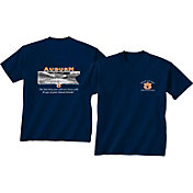 New World Graphics Men's Auburn Tigers Blue Stadium T-Shirt