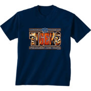 New World Graphics Men's Auburn Tigers Eyes Blue T-Shirt