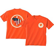 New World Graphics Men's Clemson Tigers Orange Flag T-Shirt