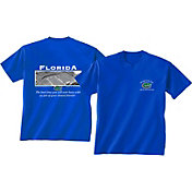 New World Graphics Men's Florida Gators Blue Stadium T-Shirt