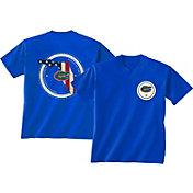 New World Graphics Men's Florida Gators Blue Flag T-Shirt