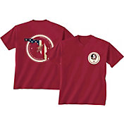 New World Graphics Men's Florida State Seminoles Garnet Flag T-Shirt