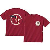 New World Graphics Men's Florida State Seminoles Garnet Flag T-Shirt