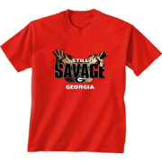 New World Graphics Men's Georgia Bulldogs Red 'Still Savage' T-Shirt