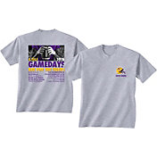 New World Graphics Men's LSU Tigers Grey 2018 Football Schedule T-Shirt