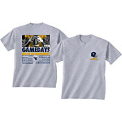New World Graphics Men's West Virginia Mountaineers Grey 2018 Football Schedule T-Shirt