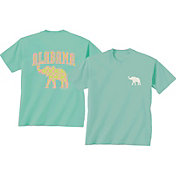 New World Graphics Women's Alabama Crimson Tide Green Elephant T-Shirt