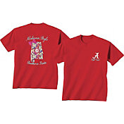 New World Graphics Women's Alabama Crimson Tide Orange Bow State T-Shirt