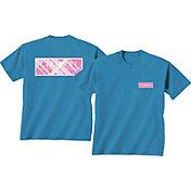 New World Graphics Women's Clemson Tiger Royal Plaid T-Shirt