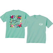 New World Graphics Women's Florida Gators Green Flower T-Shirt