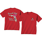 New World Graphics Women's Florida State Seminoles Orange Bow State T-Shirt