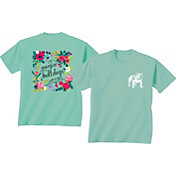 New World Graphics Women's Georgia Bulldogs Green Flower T-Shirt