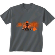 New World Graphics Youth Clemson Tigers Player Grey T-Shirt