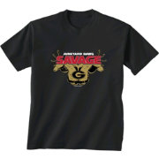 New World Graphics Youth Georgia Bulldogs 'Savage' Football Black T-Shirt