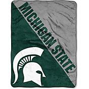 """Northwest Michigan State Spartans """"Halftone"""" Micro Raschel Throw"""