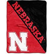 "Northwest Nebraska Cornhuskers ""Halftone"" Micro Raschel Throw"