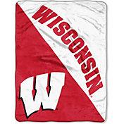 """Northwest Wisconsin Badgers """"Halftone"""" Micro Raschel Throw"""