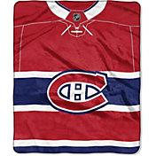 Northwest Montreal Canadiens Jersey Raschel Throw