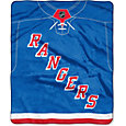 Northwest New York Rangers Jersey Raschel Throw