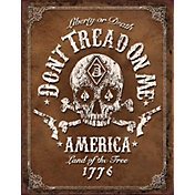 Don't Tread On Me ? Black Jack Tin Sign