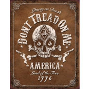 Don't Tread On Me – Black Jack Tin Sign