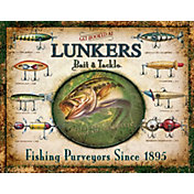 Lunker's Lures Tin Sign