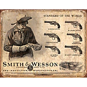 Smith & Wesson Revolver Manufacturer Tin Sign