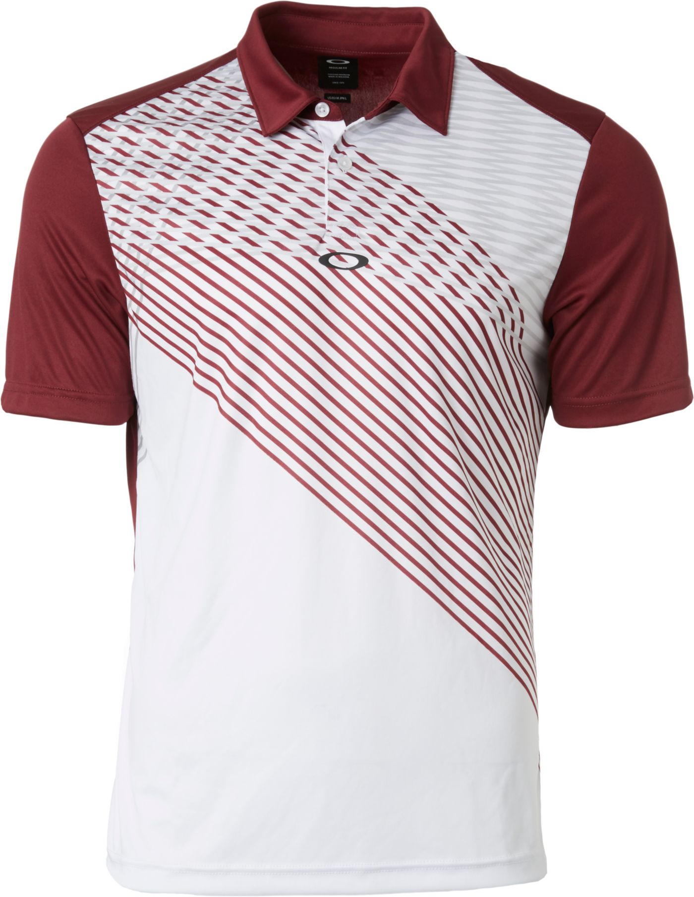 Oakley Men's Infinity Vertical Line Golf Polo