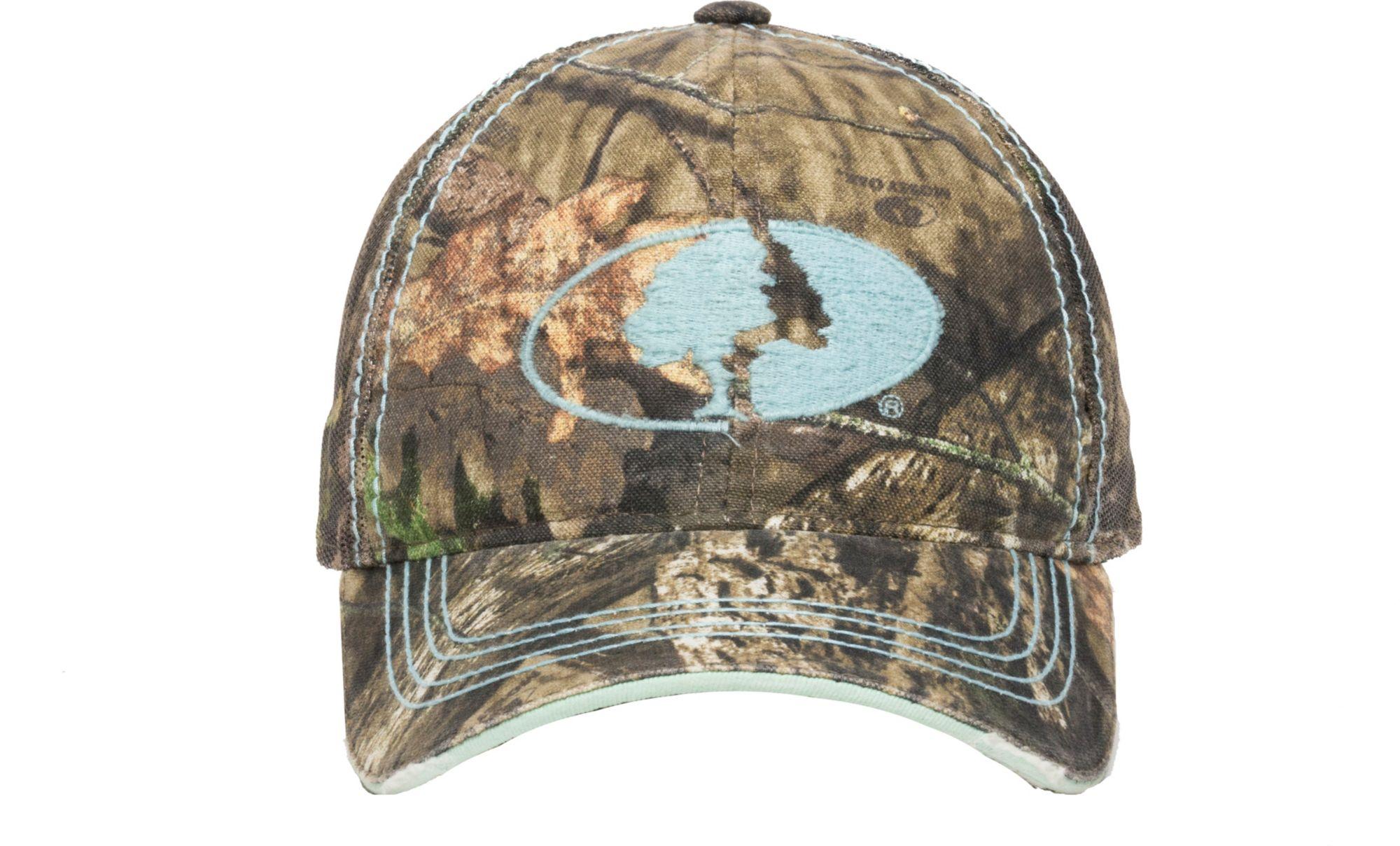 Outdoor Cap Women's Mossy Oak Blue Logo Hat, Green