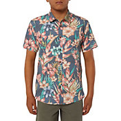 O'Neill Boys' Blissful Short Sleeve Button Up Shirt