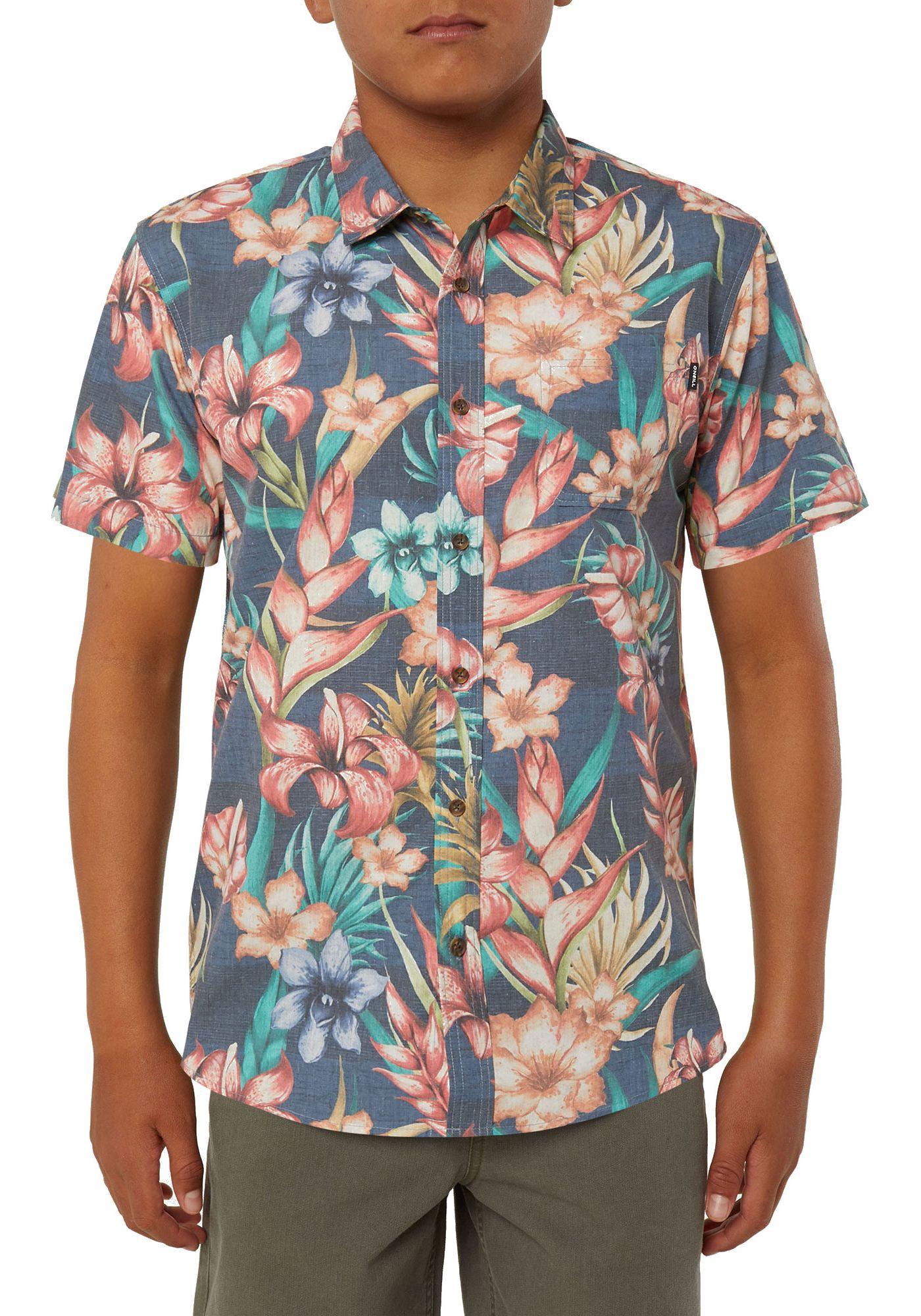 O'Neill Boys' Blissful Short Sleeve Button Up Shirt